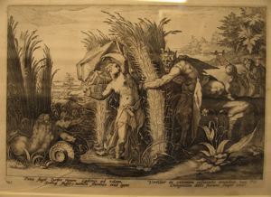 "Image of Illustration from Ovid's ""Metamorphoses""; Pan Pursuing Syrinx, Who is Changed into a Reed 12810"