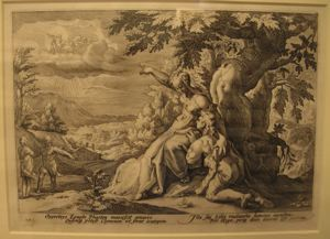 "Image of Illustration from Ovid's ""Metamorphoses""; Clymene Urging Phaeton to Find Helios 12812"