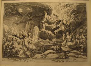 "Image of Illustration from Ovid's ""Metamorphoses""; The Fall of Phaeton 12815"