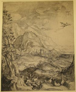 Image of Landscape with Daedalus and Icarus, after Hendrick Goltzius  18738