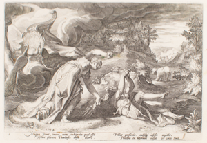 "Image of Illustration from Ovid's ""Metamorphoses""; Juno Turning Callisto into a Bear 12820"