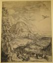 Image of Landscape with Daedalus and Icarus, after Hendrick Goltzius