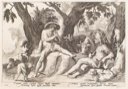 "Image of Illustration from Ovid's ""Metamorphoses""; Mercury Putting Argus to Sleep"